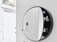 Specchio rotondo a parete con contenitoreI CATINI ROUND BOX - CERAMICA CIELO