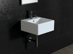 - Square ceramic washbasin ICE 40X40 - Alice Ceramica