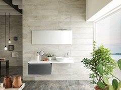 - Porcelain stoneware wall tiles with marble effect ICON OYSTER | Wall tiles - La Fabbrica