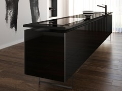 Top cucina in Silestone® ICONIC BLACK - COSENTINO