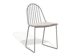 Sedia a slitta in alluminio con cuscino integratoILLA | Sedia - BIVAQ