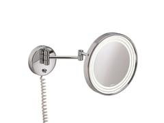 Specchio ingranditore rotondo a parete con illuminazione integrataILLUSION 908251002 | Specchio ingranditore - POMD'OR