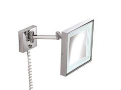 Specchio ingranditore rettangolare a parete con illuminazione integrataILLUSION 908252002 | Specchio ingranditore - POMD'OR