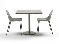 - Square steel table ILTAVOLO CAFFÉ - Opinion Ciatti