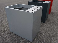 Fioriera per spazi pubblici / Posacenere per spazi pubblici in cemento fibrorinforzatoIMAGE'IN FIORIERA CON POSACENERE - IMAGE'IN BY ATELIER SO GREEN