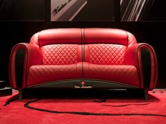 - Upholstered 2 seater leather sofa IMOLA CARBON 2012 | 2 seater sofa - Tonino Lamborghini Casa
