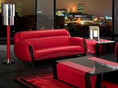 - Upholstered 3 seater leather sofa IMOLA CARBON | 3 seater sofa - Tonino Lamborghini Casa