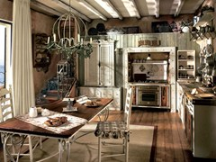 - Fitted wood kitchen INCONTRADA - COMPOSITION 01 - Marchi Cucine