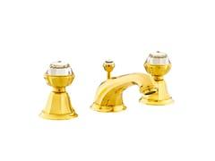 - 3 hole washbasin tap with Swarovski® crystals INDICA | 3 hole washbasin tap - Bronces Mestre