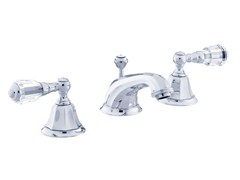 - 3 hole washbasin tap with Swarovski® crystals INDICA | 3 hole washbasin tap - Bronces Mestre