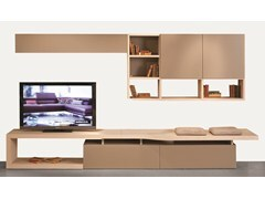 - MDF TV wall system INTRALATINA | Storage wall - ROCHE BOBOIS