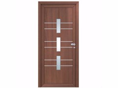 - Glazed exterior wood-product entry door INTRO UPPSALA - FOSSATI PVC