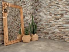 Piastrelle con superficie tridimensionale in gres porcellanato per interni/esterniINWOOD 3D - CERAMICA RONDINE