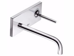 - Wall-mounted single handle washbasin mixer with plate IQ - A4489 - Ideal Standard Italia
