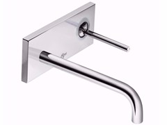 - Wall-mounted single handle washbasin mixer with plate IQ - A4490 - Ideal Standard Italia