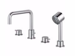 - 4 hole bathtub set with hand shower IQ - A4823 - Ideal Standard Italia