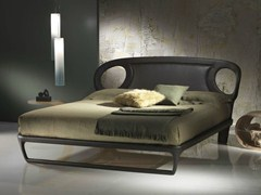 - Leather double bed IRIDE 14-B - Carpanelli Contemporary