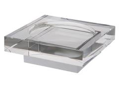- Countertop glass soap dish ISIDO | Countertop soap dish - LINEAG