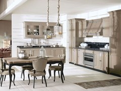 - Fitted wood kitchen ISLAMORADA - COMPOSITION 01 - Marchi Cucine