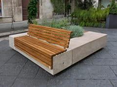 Panchina in pietra ricostruita con fioriera integrata con schienaleISLAND - MANUFATTI VISCIO