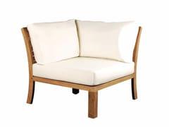 - Corner upholstered fabric garden armchair IXIT   Corner garden armchair - ROYAL BOTANIA