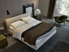 - Fabric double bed with upholstered headboard JACQUELINE | Double bed - Poliform
