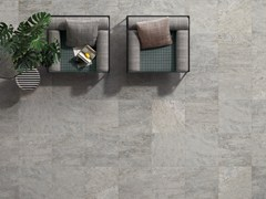 - Anti-slip frost proof porcelain stoneware flooring with stone effect K2 SOURCE SILVER - CERAMICHE KEOPE