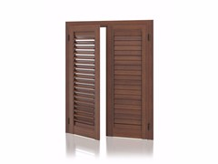- Aluminium shutter with adjustable louvers with overlap louvers K90 Overlap Adjustable - Kikau