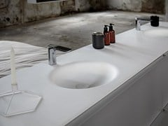 - Single Solid Surface® washbasin countertop KA | Solid Surface® washbasin countertop - INBANI