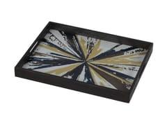 - Rectangular wood and glass tray KALEIDOSCOPE | Rectangular tray - Notre Monde