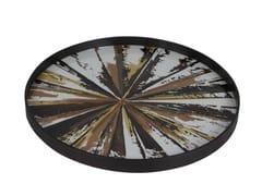 - Round wood and glass tray KALEIDOSCOPE | Round tray - Notre Monde