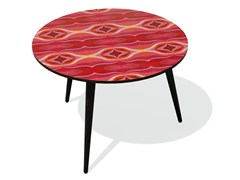 - Round beech wood and HPL side table KARMA 36 L - Bazartherapy
