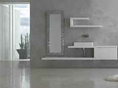 - Lacquered single vanity unit KARMA - COMPOSITION 19 - Arcom