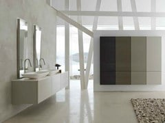 - Double lacquered vanity unit KARMA - COMPOSITION 20 - Arcom