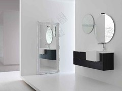 - Lacquered single vanity unit KARMA - COMPOSITION 23 - Arcom