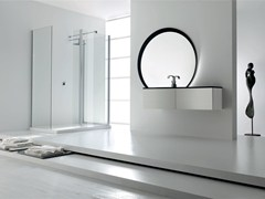 - Lacquered single vanity unit KARMA - COMPOSITION 25 - Arcom