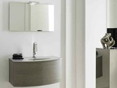 - Single wall-mounted vanity unit KARMA - COMPOSITION 27 - Arcom