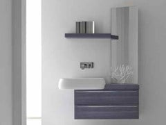 - Lacquered single vanity unit KARMA - COMPOSITION 28 - Arcom