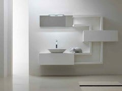 - Lacquered single vanity unit KARMA - COMPOSITION 29 - Arcom