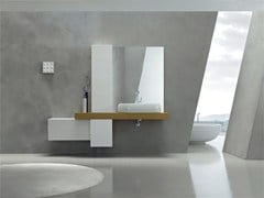 - Lacquered single vanity unit KARMA - COMPOSITION 31 - Arcom