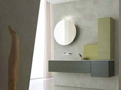 - Lacquered single vanity unit KARMA - COMPOSITION 34 - Arcom