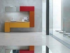 - Lacquered single vanity unit KARMA - COMPOSITION 39 - Arcom