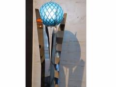 - Lampada da terra in acciaio inox e cristallo KATUNA | Lampada da terra in acciaio inox e cristallo - Placidia