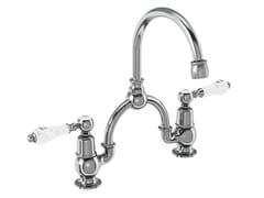 - 2 hole chromed brass bridge mixer KENSINGTON | 2 hole washbasin tap - Polo