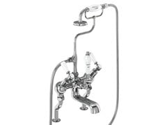 - 2 hole chromed brass bathtub tap with hand shower KENSINGTON | Chromed brass bathtub tap - Polo