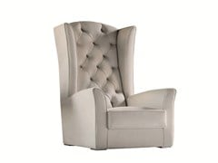 - Tufted upholstered armchair with armrests KESY LUX - Capital Collection by Atmosphera