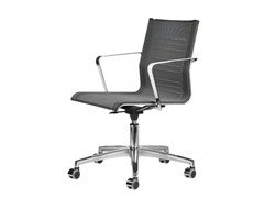 - Mesh task chair with 5-Spoke base with armrests with casters KEYPLUS 3152 - TALIN