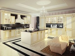 - Lacquered wooden fitted kitchen with island MICHELANGELO | Kitchen with island - Oikos Cucine