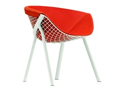 - Contemporary style upholstered steel easy chair KOBI PAD LARGE - 044 - Alias