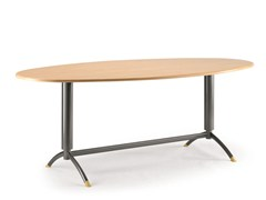 - Lacquered oval MDF office desk KOMBY 947 - TALIN